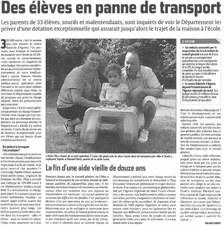 Des eleves en panne de transport